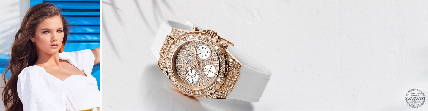 Shop Women S Swarovski Crystal Watches Guess Watches