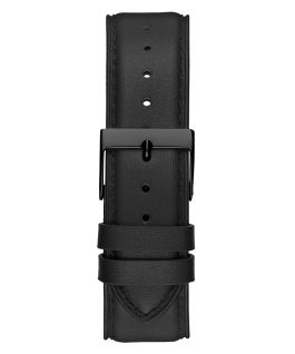 Black Case Black Genuine Leather Watch  large