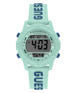 Blue Case Turquoise Silicone Watch  large
