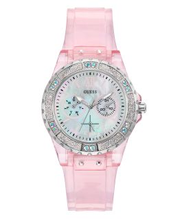 Pink Case Pink PU Watch  large