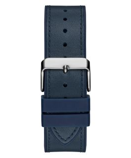 Blue Case Blue Genuine leather/Silicone Watch  large