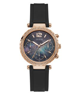 Rose Gold Tone Case Rose Gold Tone Silicone Watch  large