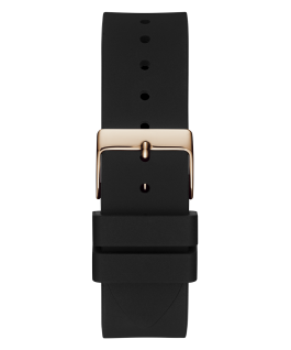 Rose Gold Tone Case Black Silicone Watch  large