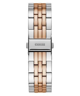Silver Tone Case Silver Tone/Rose Gold Tone Stainless Steel Watch  large