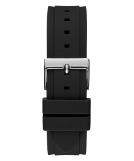 2-Tone Case Black Silicone Watch  large