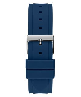 2-Tone Case Blue Silicone Watch  large