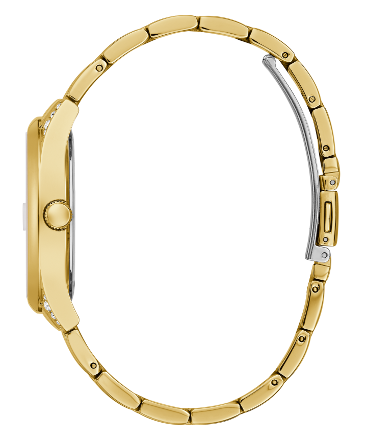 Gold Tone Case Gold Tone Stainless Steel Watch  large