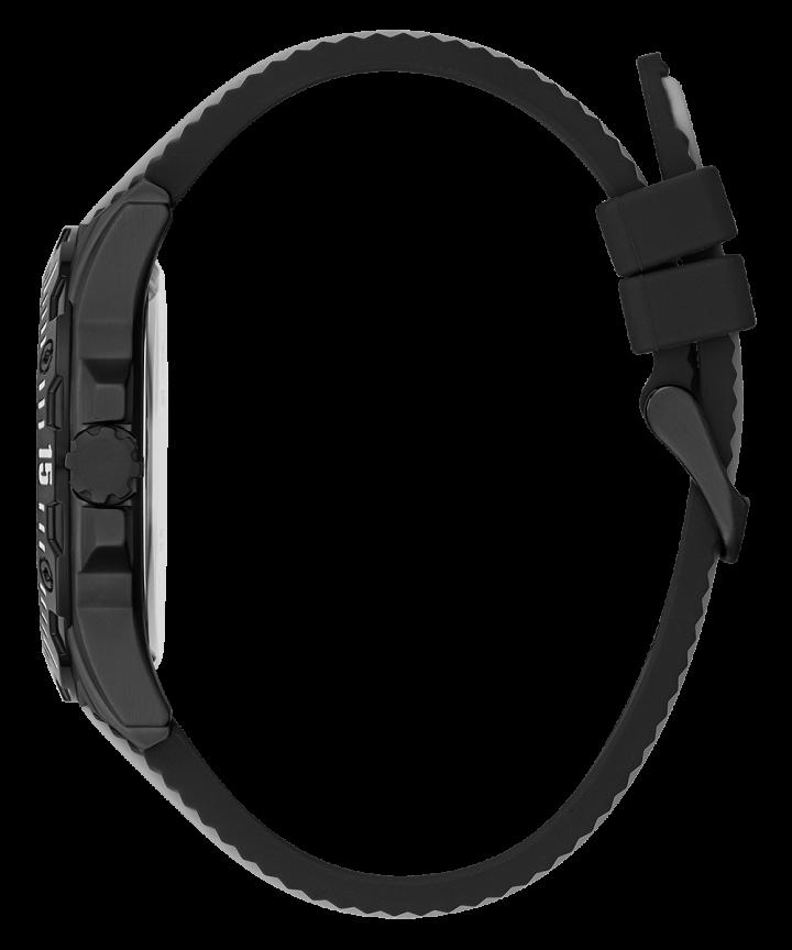 Black Case Black Silicone Watch  large