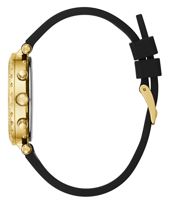 Gold Tone Case Gold Tone Silicone Watch  large