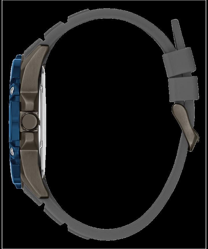 Gunmetal Case Grey Silicone Watch  large