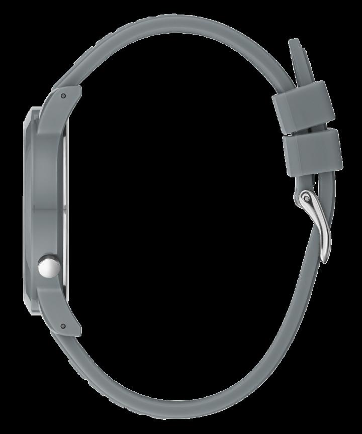 Grey Case Grey Silicone Watch  large