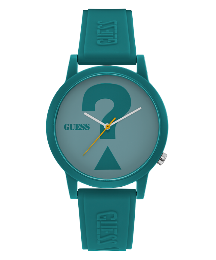 Green Case Turquoise Silicone Watch  large
