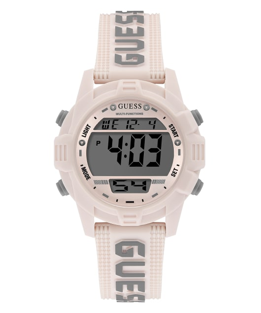 Ivory Tone Case Tan Silicone Watch  large