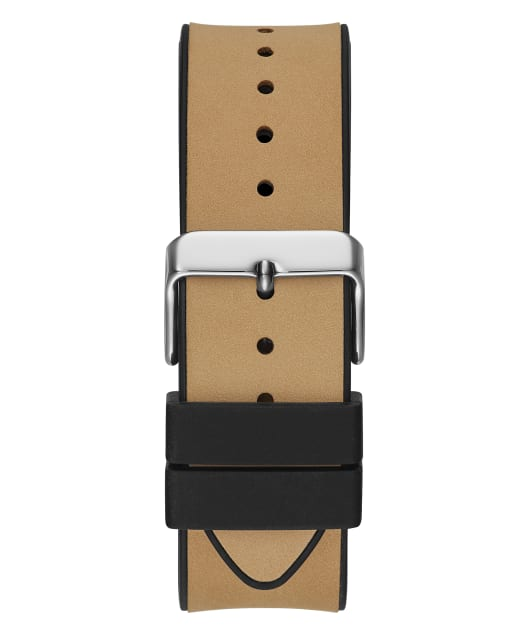 Silver Tone Case Beige Genuine leather/Silicone Watch  large