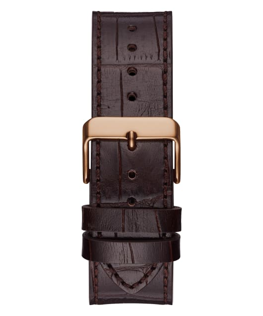 Coffee Case Brown Genuine Leather Watch  large