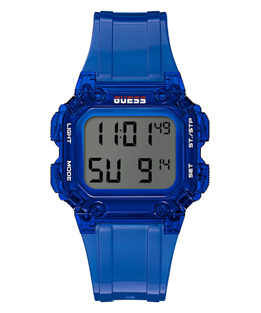 Blue Case Blue PU Watch  large