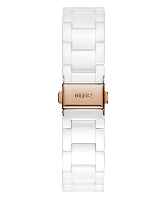 White Case White Ceramic Watch  large