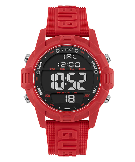 Red Case Red Silicone Watch  large