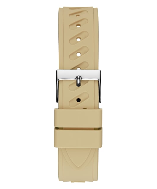 Beige Case Beige Silicone Watch  large