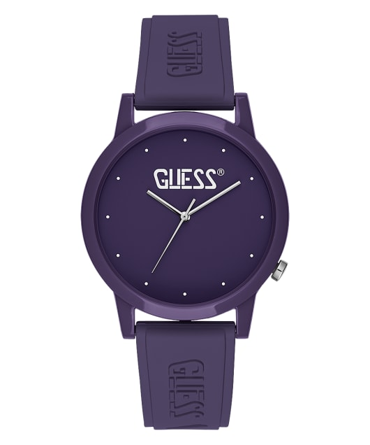 Purple Case Purple Silicone Watch  large