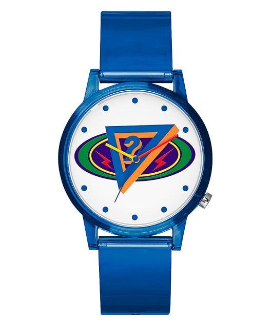 J BALVIN BLUE CASE BLUE NYLON WATCH  large