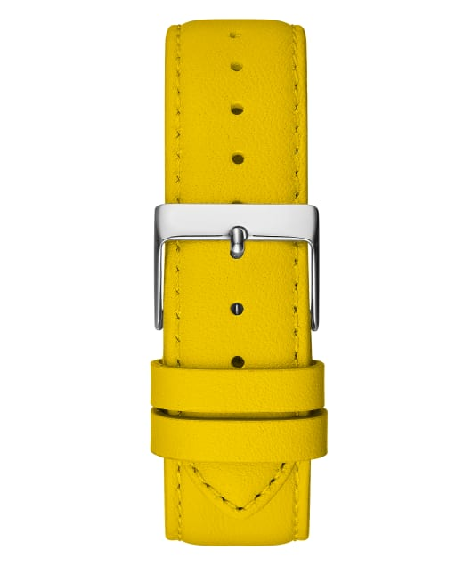 GUESSxFriendsWithYou 39mm YELLOW LEATHER STRAP WATCH  large