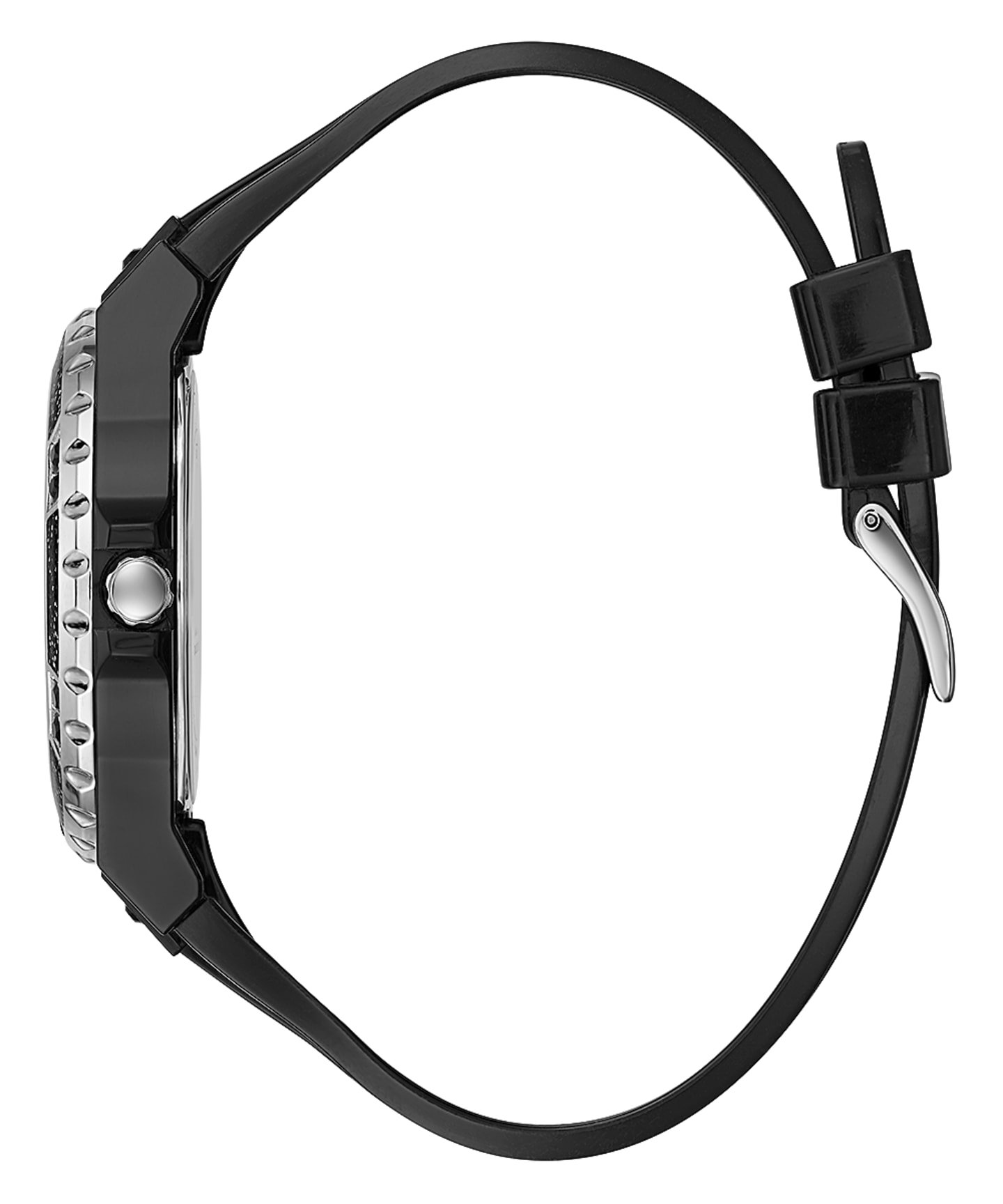 Black Case Black PU Watch  large