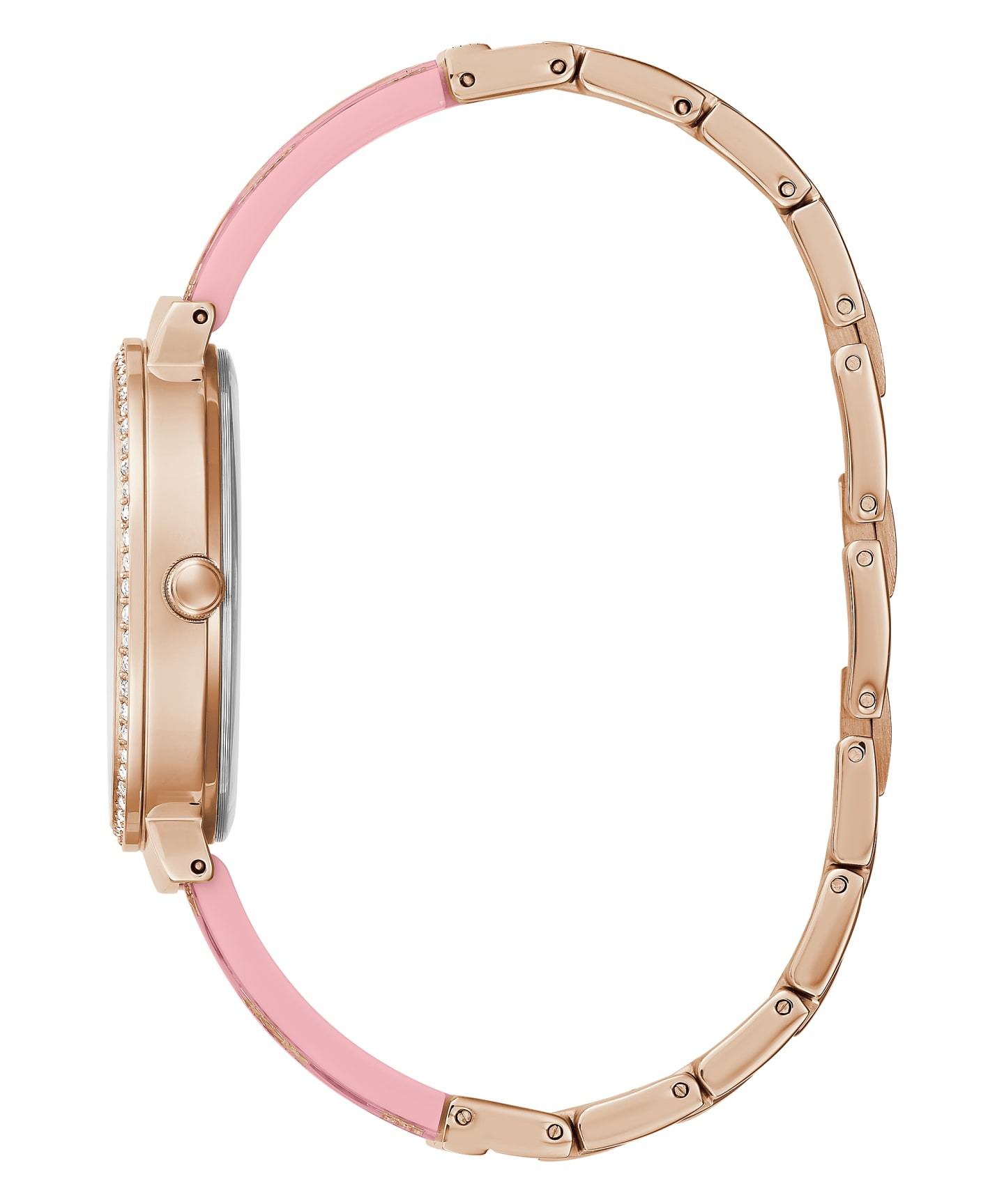 Rose Gold Tone Case Pink Resin Watch  large