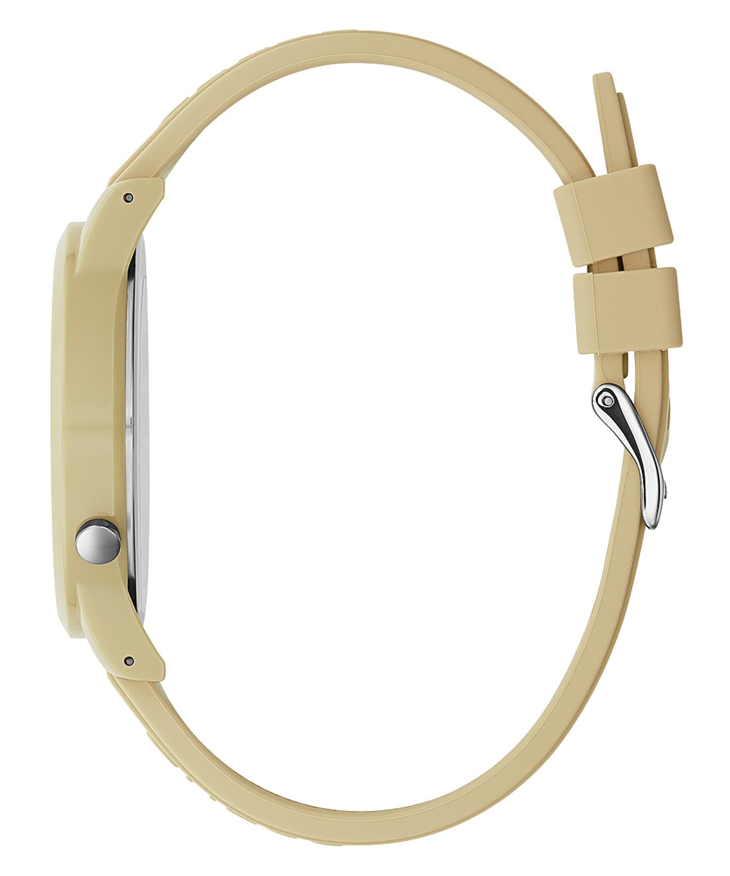 Beige Case Beige Silicone Watch  large