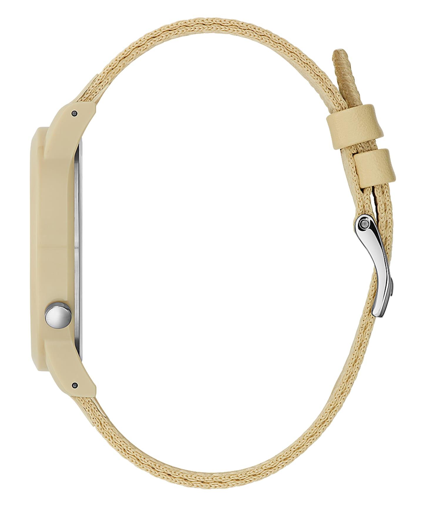 Beige Case Beige Nylon Watch  large