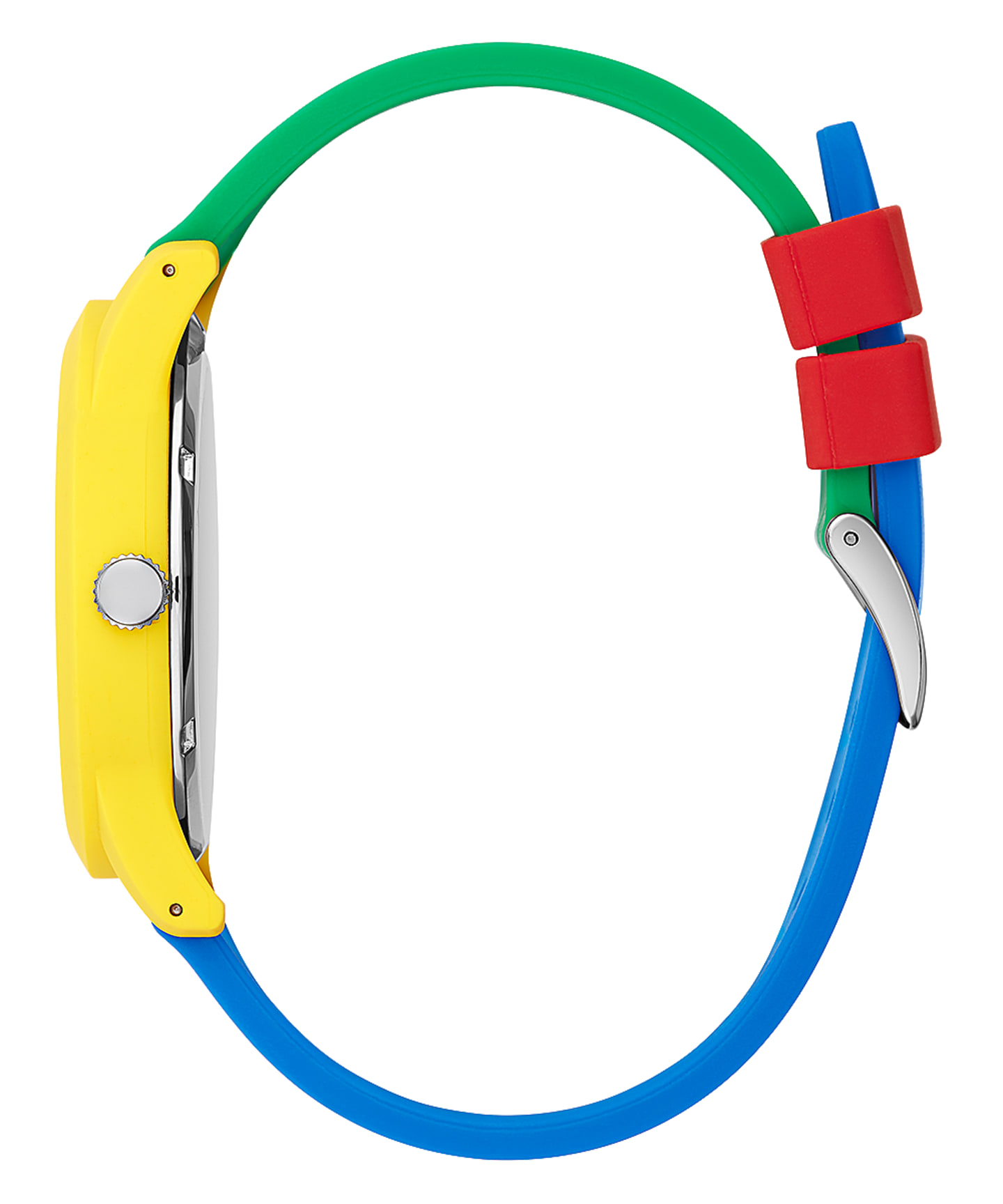 J BALVIN YELLOW CASE BLUE SILICONE WATCH  large