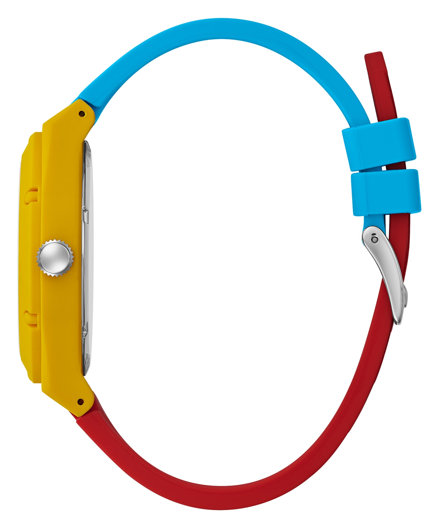 GUESSxFriendsWithYou 42mm VIBRANT SILICONE STRAP WATCH  large
