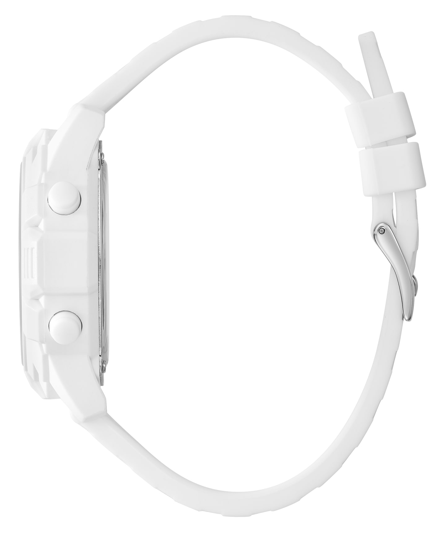 GUESSxFriendsWithYou 41mm WHITE SILICONE STRAP WATCH  large