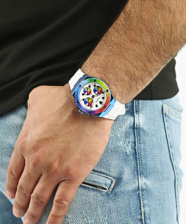 GUESS WORN WITH PRIDE TIE-DYE WATCH, , large