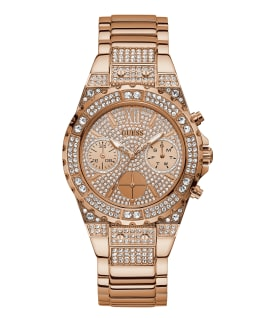 Rose Gold Tone Case Rose Gold Tone Stainless Steel Watch, , large