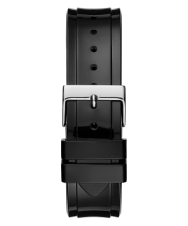 Black Case Black PU Watch, , large
