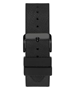 Black Case Black Genuine leather/Silicone Watch  large
