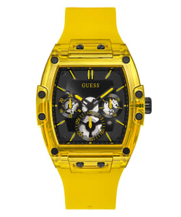 Yellow Case Yellow Silicone Watch  large