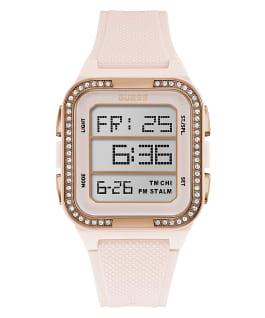 Pink Case Nude Silicone Watch, , large