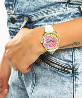 GUESS LOVE WINS STARBURST PRIDE WATCH, , large