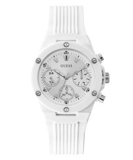 White Case White Silicone Watch, , large