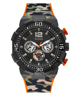 Black Case Camo Silicone Watch  large