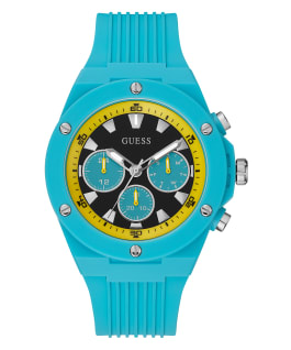 Blue Case Blue Silicone Watch  large
