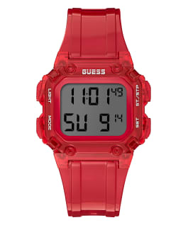 Red Case Red PU Watch, , large