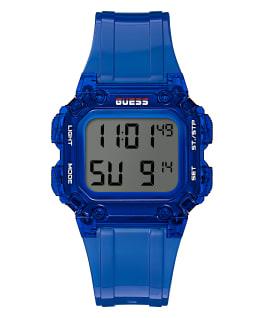 Blue Case Blue PU Watch, , large