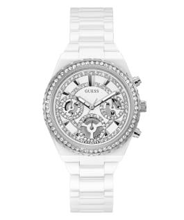 White Case White Ceramic Watch  large