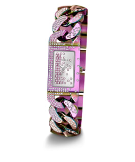 Purple Case Iridescent  Stainless Steel Watch  large