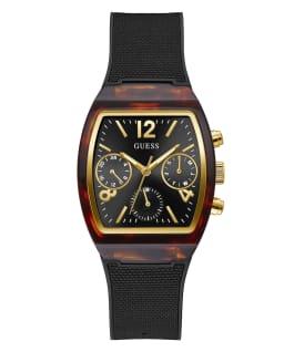 Tortoise Look Case Black Nylon/Silicone Watch  large