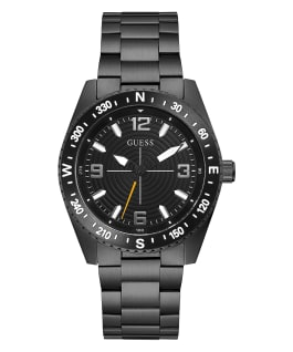 Black Case Black Stainless Steel Watch, , large