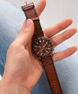 Coffee Case  Genuine Leather Watch  large